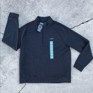 Greg Norman Black Quarter Zip Pullover Top, Size L